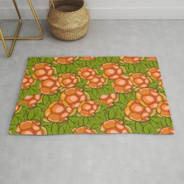 Cloudberry nature pattern Rug