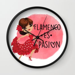 flamenco es pasion Wall Clock