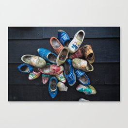 Vintage clogs Canvas Print