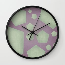 Geometric Shapes with Jute texture Wall Clock