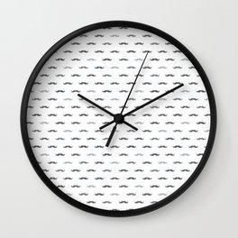 Grey Mustache Wall Clock