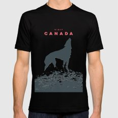 Visit Canada Mens Fitted Tee Black 2X-LARGE