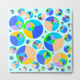 Bubble blue & orange Metal Print