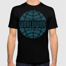 WorldWide FM Black Mens Fitted Tee MEDIUM