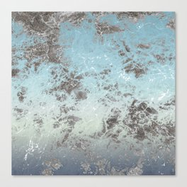 Blue gray abstract pattern Canvas Print