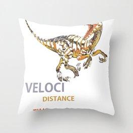 Velociraptor = Distanceraptor_ Timeraptor Dinosaur Throw Pillow