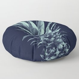 Navy Blue Pineapple Dream #1 #tropical #fruit #decor #art #society6 Floor Pillow