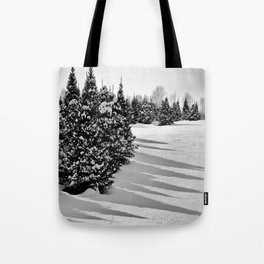 Black and White Winter Tote Bag