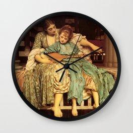 "Frederic Leighton ""Music lesson"" Wall Clock"