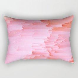 Romance Glitch - Pink & Living coral Rectangular Pillow