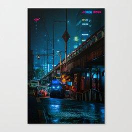 Cyberpunk Seoul Canvas Print