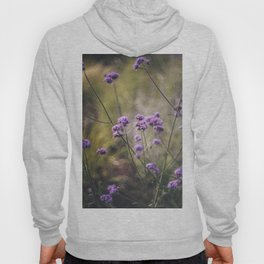Purple wild flowers Hoody