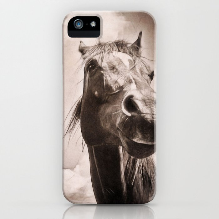 Arabian Horse Spring Storm  iPhone Case