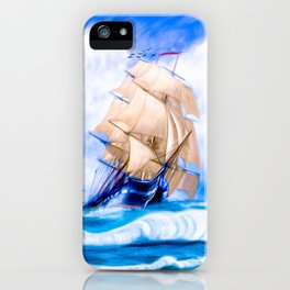 Frigate USS Constitution At Sea iPhone Case