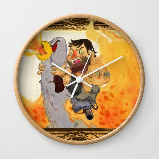 """Rize of the Fenix"" by Virginia McCarthy & Cap Blackard Wall Clock"