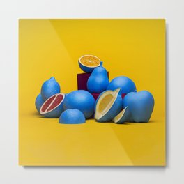 2Cool4Fruits - Blue Lemon Metal Print