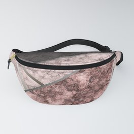 Marble . Combined abstract pattern . Fanny Pack