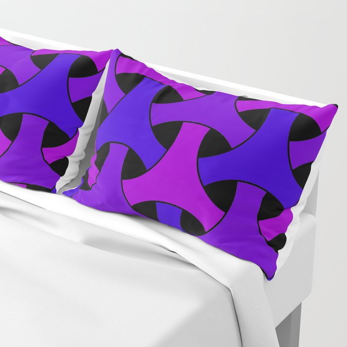 Geometric Design 2 (Purple) Pillow Sham