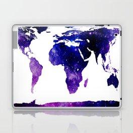 World Map Purple Blue Galaxy Laptop & iPad Skin