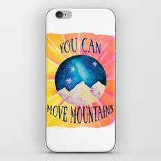 You Can Move Mountains - Galaxy Night Sky Motivational Watercolor iPhone & iPod Skin