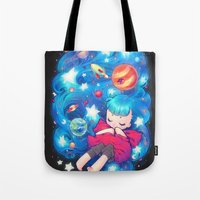 barachan Tote Bags featuring space by barachan