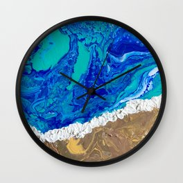 """LaJolla Cove"" by Laurie Ann Hunter Wall Clock"