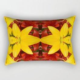 """A Gathering of Lilies"" Remix - 4 (1-1) [D4469~57] Rectangular Pillow"