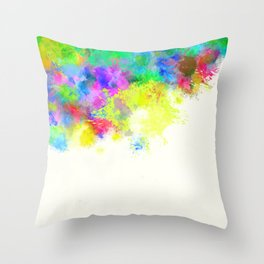Paint Splashes Throw Pillow