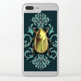 GOLDEN BEETLE Clear iPhone Case