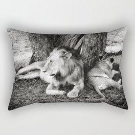 African Safari Lion Rectangular Pillow