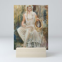 Sappho and her lydian lyre Mini Art Print