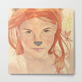 The fox girl Metal Print