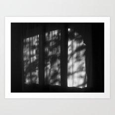 There's a light at Casa Milà. Barcelona Art Print