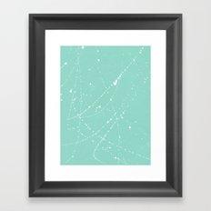 Dazed + Confused [Turquoise] Framed Art Print