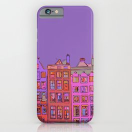 Canal houses Amsterdam the Netherlands iPhone Case