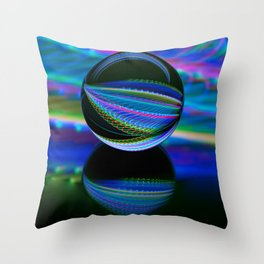 All colours in the glass ball Throw Pillow