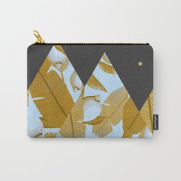Tropical Leaves & Geometry Carry-All Pouch