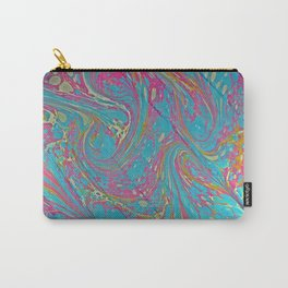 Pinky Swirl Water Marbling Carry-All Pouch
