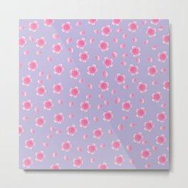 Sakura Pattern_F Metal Print