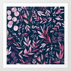 Eucalyptus Pink Art Print
