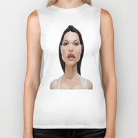celebrity Biker Tanks featuring Celebrity Sunday ~ Monica Bellucci by rob art | illustration