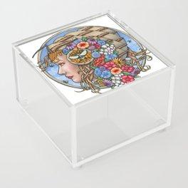 Beatrix Bee Queen by Bobbie Berendson W Acrylic Box