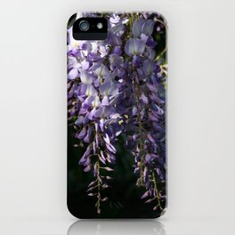 Wisteria With Garden Background iPhone Case