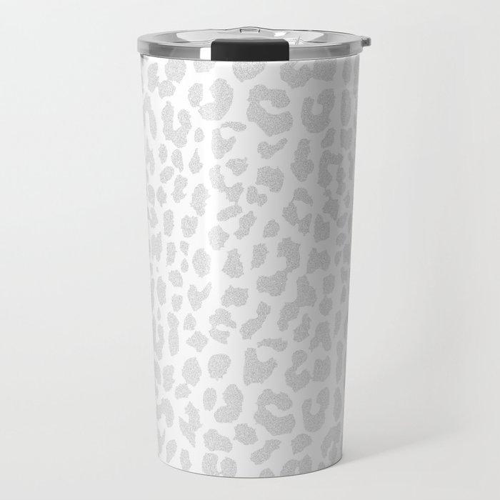 Pale Gray Leopard Travel Mug