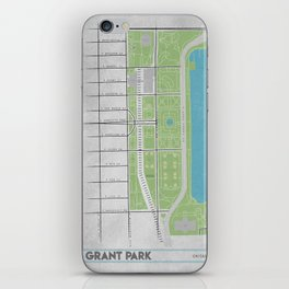 Parks of Chicago: Grant Park iPhone Skin