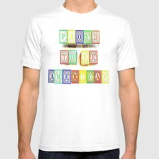 Proud  White MEDIUM Mens Fitted Tee