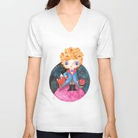 le petit prince V-neck T-shirts featuring Le petit prince by Laura Barocio