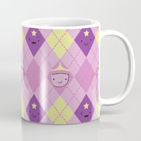 lumpy space princess Mugs featuring Argyle Time! (Princess Bubblegum & Lumpy Space Princess version) by Kakibot
