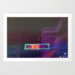 Hongkong Signs X Art Print