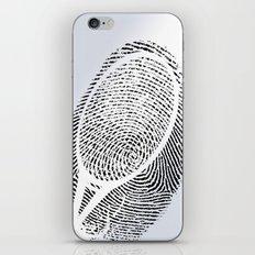 Fingerprint of a player iPhone & iPod Skin